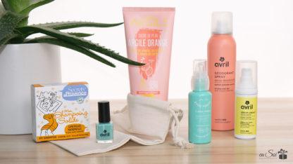Coffret de produits de beauté corps et visage bio