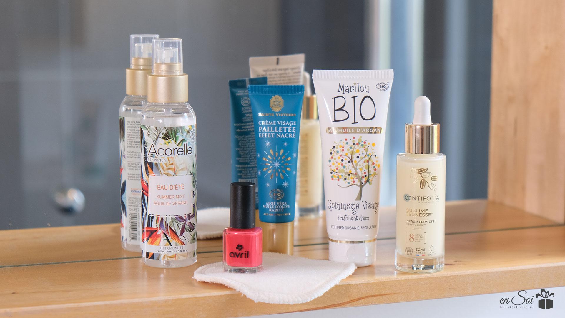 Coffret de produits de beauté visage bio